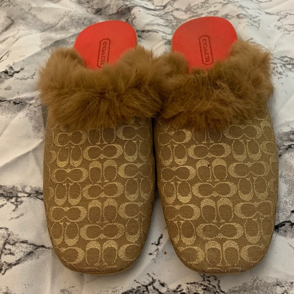 Coach Shoes - Coach | Melody | Slippers | Rabbit Fur trim